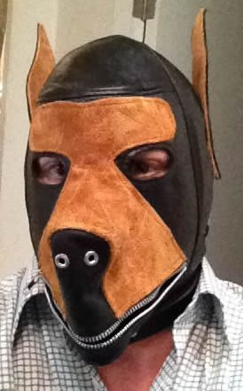 leather puppy mask