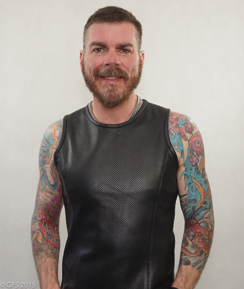 This is a great leather shirt for hitting the bars, clubs or even your favorite leather event. Made with quality garmet leather you have the option of perforated leather or solid leather for this great sleek look. Check it out here at Mr S Leather http://glink.me/SportTank